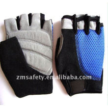 Promotion microfiber leather half finger cycling sports glove