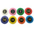 Custom Hot Foil Stamped Poker Chips