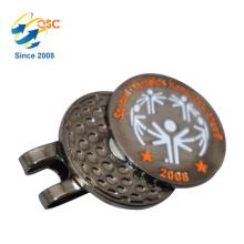 Le logo fait sur commande a imprimé l'agrafe adaptée aux besoins du client de chapeau de marqueur de boule d'golf d'aimant