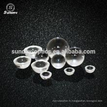 Lentille hémisphère de saphir de 2 mm de diamètre petite lentille de demi-boule