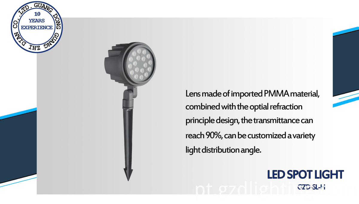 9W led spike light