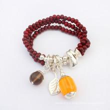 Perles en résine à vente chaude enroulent des bracelets en rosaire de gros