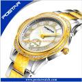 Fábrica de logotipo personalizado todos em aço inoxidável Moda Lady Watch
