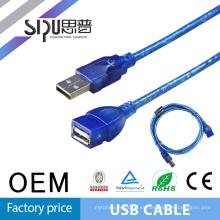 SIPU alta calidad cable usb 5 m mejor precio macho a hembra uab cable 2.0 mayorista usb cable de extensión proveedor