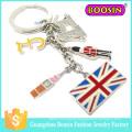 Wholesale Promotional Gift Cheap Fashion Custom Metal Flag Keychain