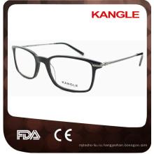 2017 мужские классические новый дизайн ацетат оптические очки & очки очки с металлическими дужками
