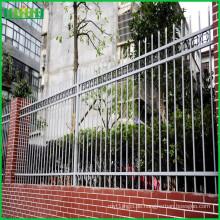 TOP verkauft pulverbeschichteter Stahl Zaun Stahl Zaun