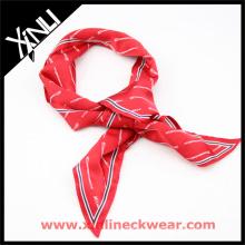 Impresión personalizada de la mano cuello perfecto nudo cuello al por mayor bufanda corbata fabricante