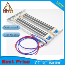 PTC heating element with thermistor
