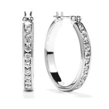 Heiße Verkäufe 925 silberne Band-Ohrring-Schmucksachen mit weißem CZ