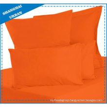 Solid Color Orange Cotton Bedsheet