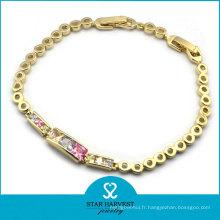 Bracelet de bijoux de mode plaqué or Whosale
