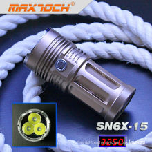 Maxtoch SN6X-15 3 * Cree T6 3250 lúmenes más brillante antorcha de Swat