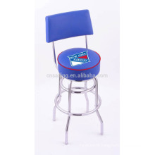 Classic Chrome Plated Swivel Synthetic Leather barstool
