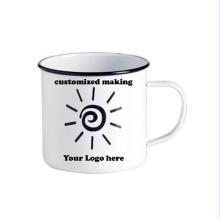 Tasse à café en thé blanc émaillée 8/9/10/11 / 12cm