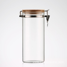 Kitchen Glass Storage Jars With Clamp Top Lid