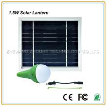 1.5w portable solar led lantern solar lamp