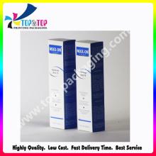 Precio de fábrica Cobre papel plegable caja de jeringa cosmética de embalaje
