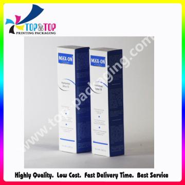 Prix d'usine Boîte pliante en papier revêtue Seringue cosmétique Emballage