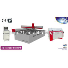 high pressure Metal/glass processing machine by water jet with 1500mm*3000mm cutting table and 420Mpa pump 4,5 axis cutting head