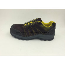 Brown Suede Leather Wear-Resisting New Designed Outdoor Safety Shoes (16067)