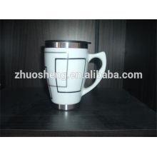 heißer Verkauf Produkt Edelstahl Großhandel benutzerdefinierte Keramik Kaffeebecher mit Deckel