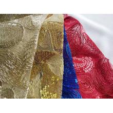 Broderie de corde de polyester fantaisie pour robe femme