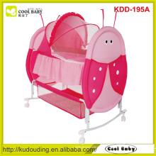 Fabricante Baby Cradle Desigh NOVO Cama Swing Red Pick Color Portable Baby Cradle Grande Armazenamento Cesta Borboleta Mosquito Net