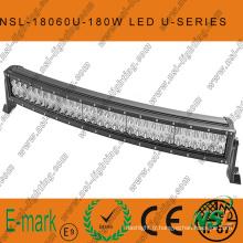 Barre lumineuse incurvée de la série CREE-U à LED 180W, barre lumineuse étanche à LED 60PCS * 3W hors route