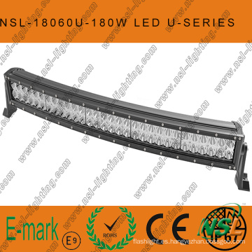 2016! ! ! Barra de luz LED de la serie Curved-U Creee súper brillante de 30 pulgadas, barra de luz LED de 180W