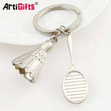Chine fabrication promotion plaque métallique mini tennis ball keychain