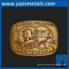 personalizar fivela de cinto de metal, boné de alta qualidade personalizado, fivelas de cinto de colorado centenário