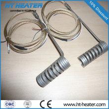 Calentador de resorte helicoidal de canal caliente
