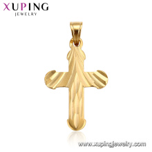 33400 xuping jewelry new simple design 24K gold plated Christianity cross pendant