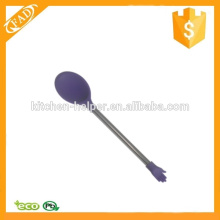 Fashionable Design Comfort of Use Silicone Stirring Coffee Spoon