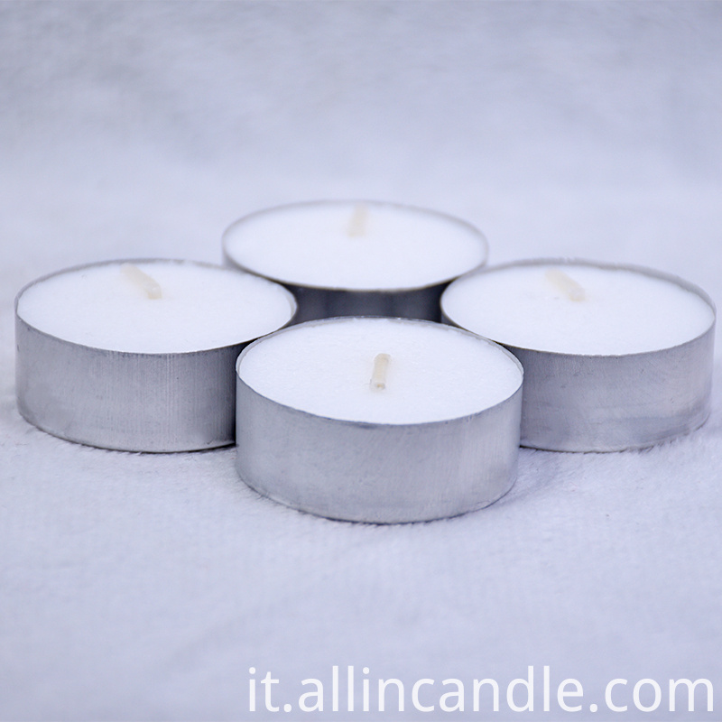 12g Poured White Tealight Candle