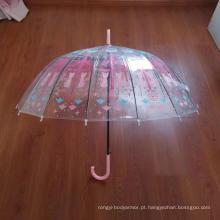 Capacete de forma especial guarda-chuva transparente POE promocional