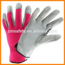 Damen-Rindleder-Spandex-Handschuhe