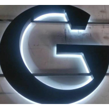 Back Lit Black Painted Stainless Steel Channel Letter