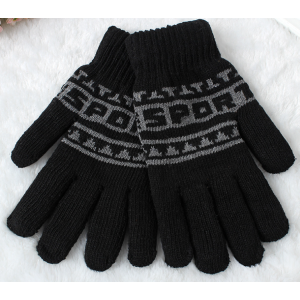 Jacqaurd Fiver Fingers Warme Acryl Winter Strickhandschuhe