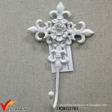 White Retro Coat Hat Key Single Metal Hook
