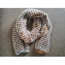 Senhoras inverno fancy fios malha lenço de lantejoulas