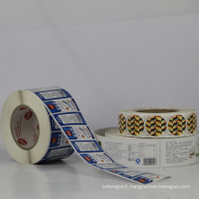 High Quality Self Adhesive Pet/PVC/Vinyl Label Sticker
