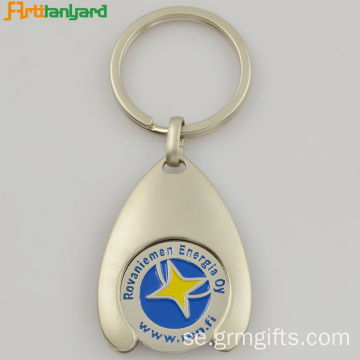 Trolley Coin Keychain Med Lasergravering