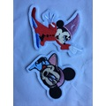 Animal Bordado Lentejuelas Piel Mickey Mouse Parche