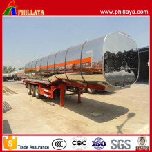 Stainless Steel 36000-50000 Liters Crude Oil Fuel Tanker Trailer