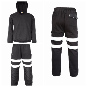 Cotton Knitted Flannel Fire Tie Hoodie and Pants