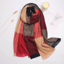 Hot Selling Soft Cashmere Check Pattern Wraps Shawl Winter Outdoor Neck Warm Women Casual Pashmina Scarf