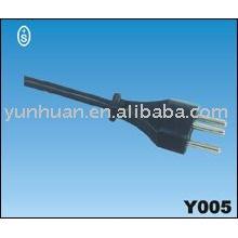 кабель питания 230v CH швейцарского утверждения шнур привести Ассы