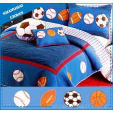 Colcha y colcha de algodón para ropa de cama para niños de 4 piezas
